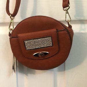 COPY - Brown vegan leather crossbody NWT